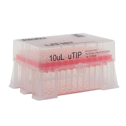 10ul Universal Pipette Tip Racked
