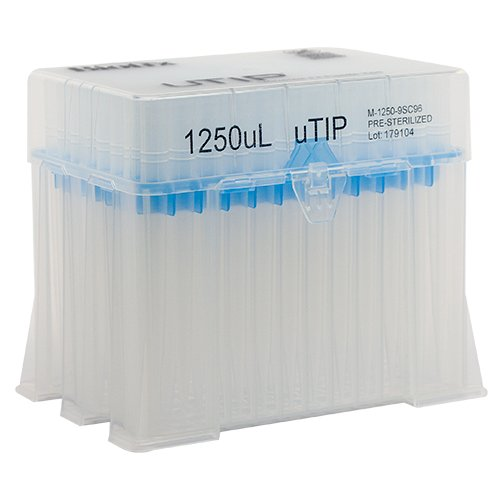 1250ul Universal Pipette Tip Racked